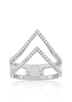 Belk & Co. Diamond Double Chevron Ring in Sterling Silver