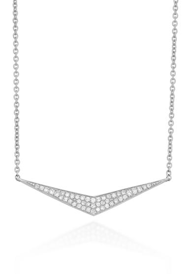 Belk & Co. Diamond Mini Chevron Necklace in Sterling Silver
