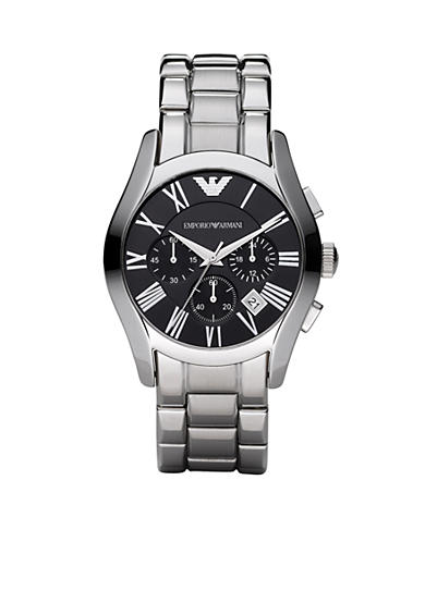Emporio Armani® Men's Classic Watch with Stainless Steel Bracelet with Black Round Face