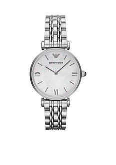 Emporio Armani® Women's Silver-Tone Stainless Steel Two-Hand Watch