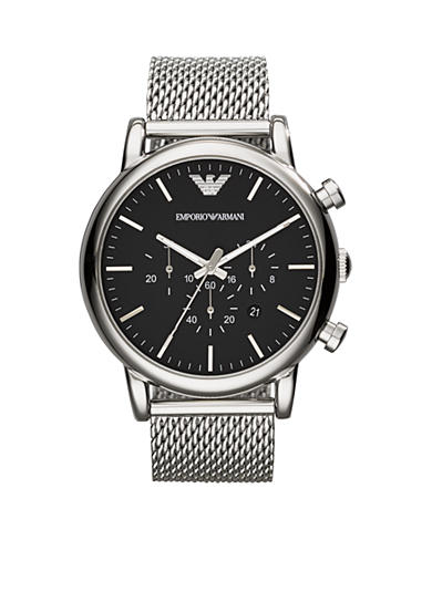 Emporio Armani® Men's Stainless Steel Mesh Chronograph Watch