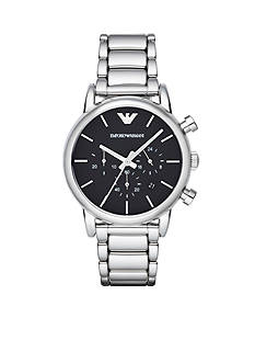 Emporio Armani Men's Classic Stainless Steel Bracelet Chronograph Watch