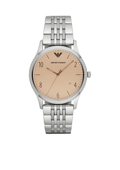 Emporio Armani® Men's Classic Stainless Steel 3-Hand Date Watch
