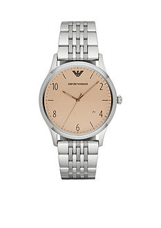 Emporio Armani Men's Classic Stainless Steel 3-Hand Date Watch