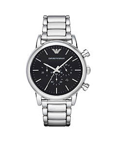 Emporio Armani® Men's Luigi Silver-Tone Chronograph Watch