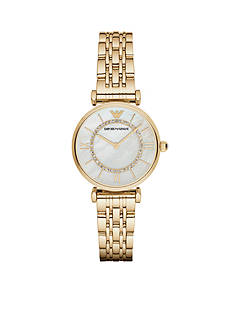 Emporio Armani® Women's Gianni Gold-Tone Two-Hand Watch