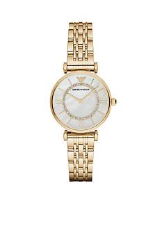 Emporio Armani Women's Gianni Gold-Tone Two-Hand Watch
