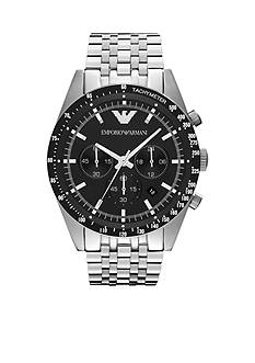 Emporio Armani Men's Silver-Tone Stainless Steel Chronograph Watch