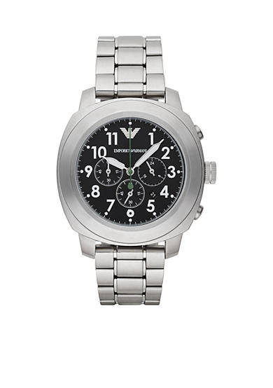 Emporio Armani® Men's Sport Stainless Steel Bracelet Chronograph Watch