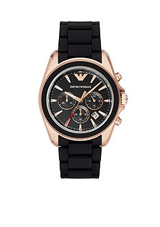 Emporio Armani® Men's Sigma Rose Gold-Tone And Black Chronograph Watch