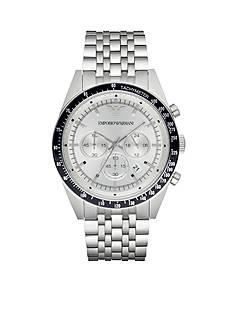 Emporio Armani Men's Tazio Silver-Tone Chronograph Watch
