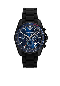 Emporio Armani® Men's Sigma Black Chronograph Watch