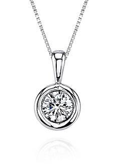 Sirena Diamond Pendant in 14k White Gold