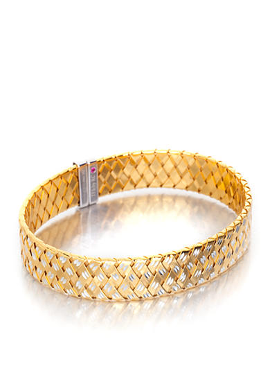 The Fifth Season by Roberto Coin 18k Yellow Gold-Plated Sterling Silver Flat Bangle