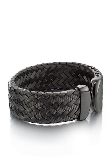 The Fifth Season by Roberto Coin Sterling Silver with Rhodium Plating Small Woven Cuff