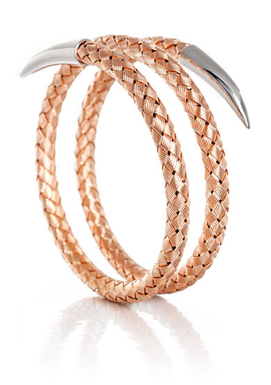 The Fifth Season by Roberto Coin Two Tone Sterling Silver Snake Bracelet