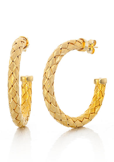 The Fifth Season by Roberto Coin Two Tone Sterling Silver Hoop Earrings