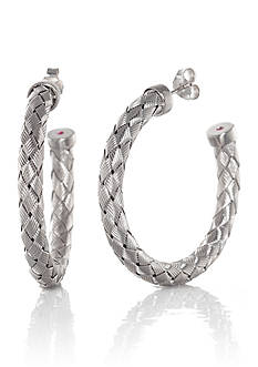 The Fifth Season by Roberto Coin Sterling Silver Hoop Earrings