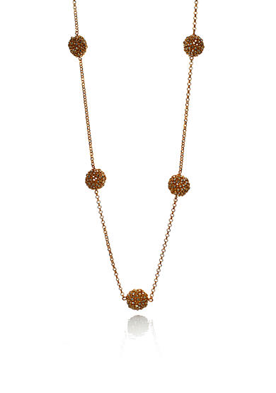 The Fifth Season by Roberto Coin 18k Yellow Gold Plated Sterling Silver Station Chain Necklace<br>