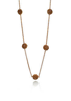The Fifth Season by Roberto Coin 18k Yellow Gold Plated Sterling Silver Station Chain Necklace