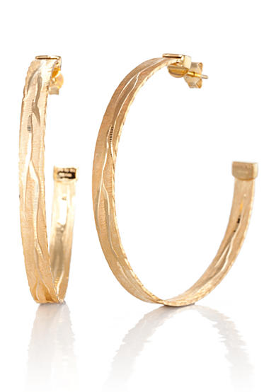 The Fifth Season by Roberto Coin 18k Yellow Gold Plated Sterling Silver Hoop Earrings
