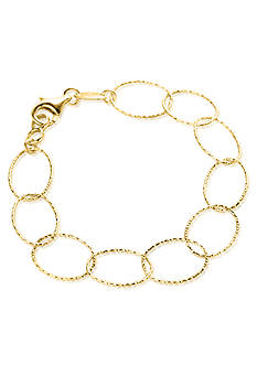 Charles Garnier Sterling Silver with 18k Yellow Gold Finish Link Bracelet