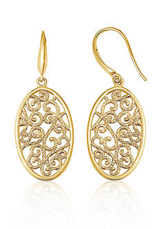 Charles Garnier Sterling Silver with 18k Yellow Gold Filigree Earrings