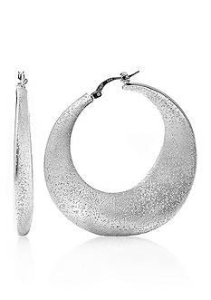 Charles Garnier Sterling Silver Hoop Earrings