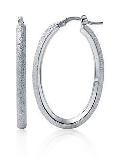 Charles Garnier Sterling Silver Oval Hoop Earrings