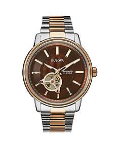 Bulova Brown Dial Two-Tone Bracelet Watch