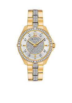 Bulova Women's Gold-Tone Crystal Watch