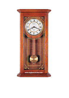Bulova Cirrus Wall Chime Oak Clock