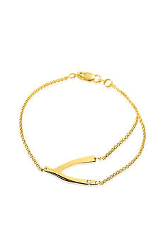 Belk & Co. 14k Yellow Gold Wishbone Bracelet