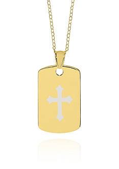 Belk & Co. 10k Yellow Gold Cross Dog Tag Pendant