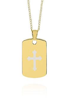 Belk & Co. 14k Yellow Gold Cross Dog Tag Pendant