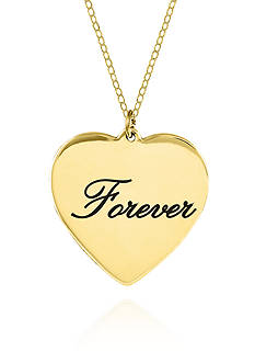Belk & Co. 14k Yellow Gold Forever Heart Pendant