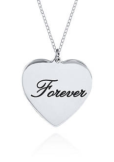 Belk & Co. Sterling Silver Forever Heart Pendant