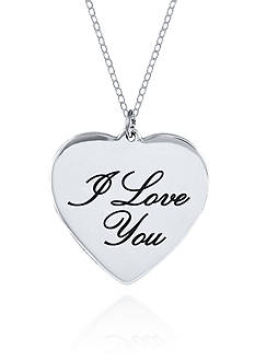 Belk & Co. Sterling Silver I Love You Heart Pendant