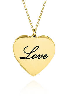 Belk & Co. 10k Yellow Gold Love Heart Pendant