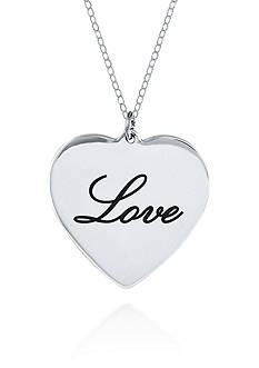 Belk & Co. Sterling Silver Love Heart Pendant