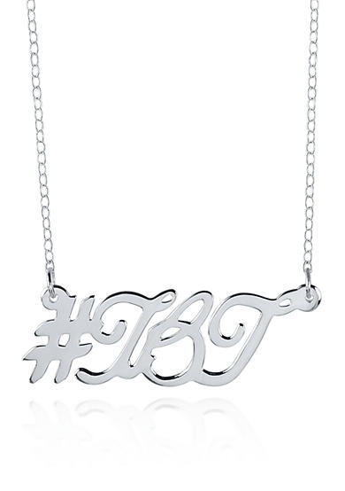 Belk & Co. Sterling Silver Hashtag TBT Necklace