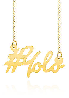 Belk & Co. 14k Yellow Gold YOLO Necklace