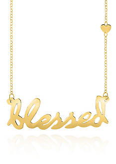 Belk & Co. 10k Yellow Gold Blessed Necklace