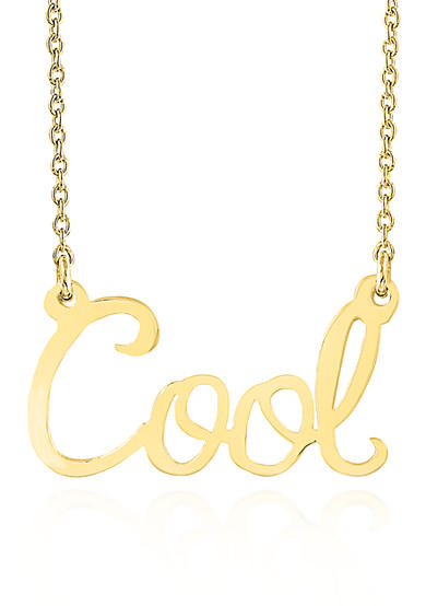 Belk & Co. 14k Yellow Gold Cool Necklace