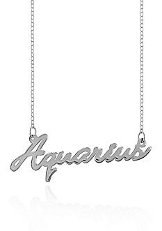 Belk & Co. Sterling Silver Aquarius Necklace