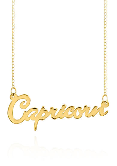 Belk & Co. 14k Yellow Gold Capricorn Necklace