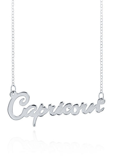 Belk & Co. Sterling Silver Capricorn Necklace