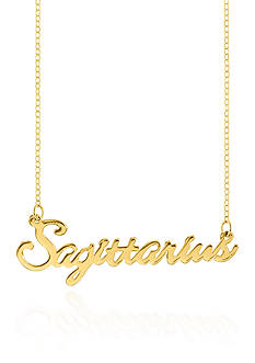 Belk & Co. 10k Yellow Gold Sagittarius Necklace