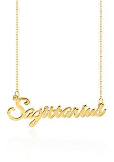 Belk & Co. 14k Yellow Gold Sagittarius Necklace