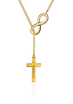 Belk & Co. 14k Yellow Gold Infinity Cross Necklace